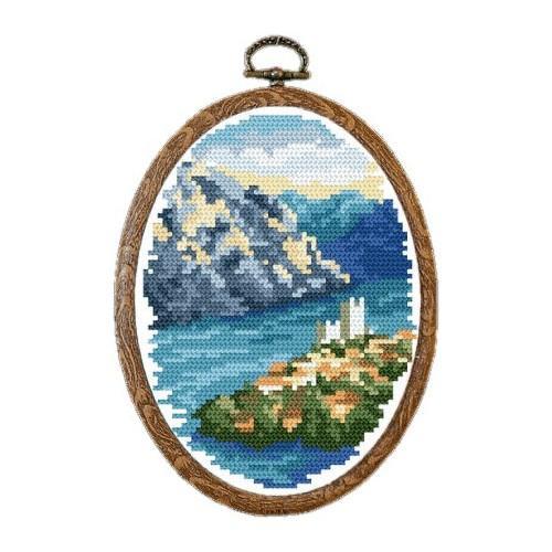 Kanwa z nadrukiem - Jeziora Lombardii