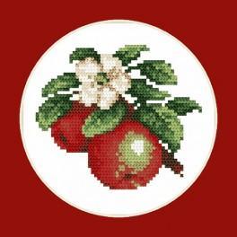 Kanwa z nadrukiem - B.Sikora-Malyjurek -Soczyste jabłka