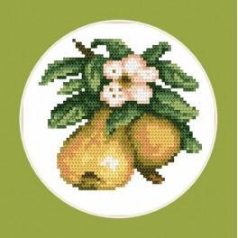 Kanwa z nadrukiem - B.Sikora-Malyjurek -Smakowite gruszki