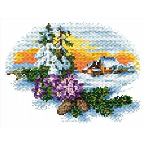 Kanwa z nadrukiem - Zimową porą