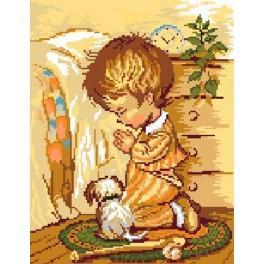 Kanwa z nadrukiem - Modlitwa_chłopca