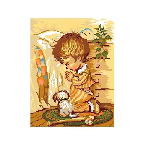 5104 Kanwa z nadrukiem - Modlitwa_chłopca