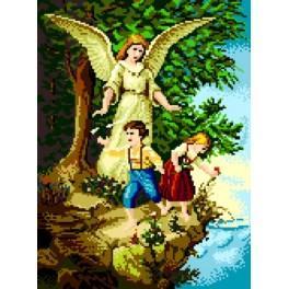 Kanwa z nadrukiem - Anioł Stróż nad przepaścią