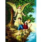 5156 Kanwa z nadrukiem - Anioł Stróż nad przepaścią