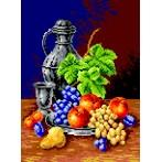 Kanwa z nadrukiem - Kielich i owoce