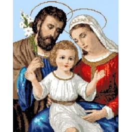 Kanwa z nadrukiem - święta rodzina