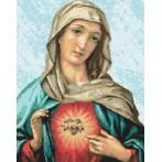 Kanwa z nadrukiem - Matka Boża Miłosiernego Serca