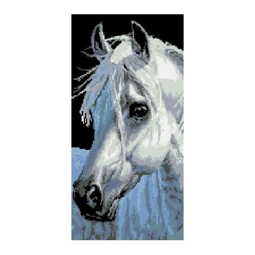 6515 Kanwa z nadrukiem - Koń