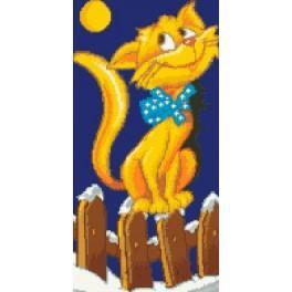6526 Kanwa z nadrukiem - Kot
