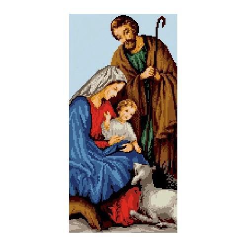 6533 Kanwa z nadrukiem - święta rodzina
