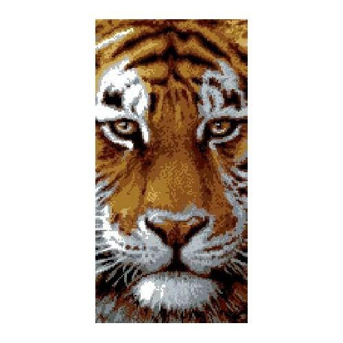 Kanwa z nadrukiem - Tygrys_