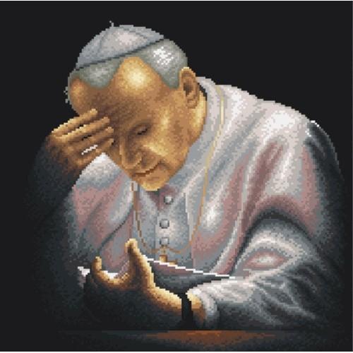 Kanwa z nadrukiem - Jan Paweł II