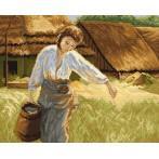 Kanwa z nadrukiem - A. Kędzierski_- Dziewczyna z dzbanem