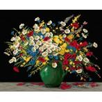 Kanwa z nadrukiem - Kwiaty
