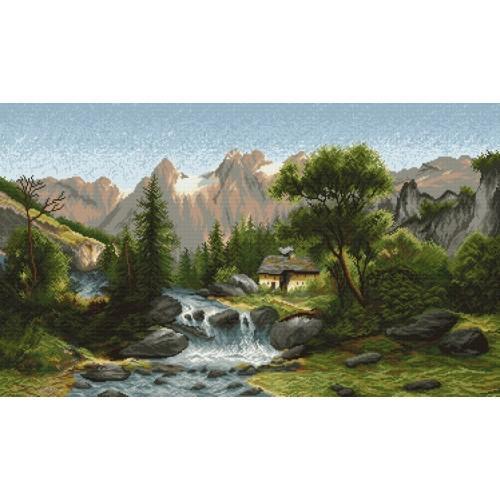 Kanwa z nadrukiem - W dolinie