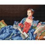 Kanwa z nadrukiem - Madame Pompadour