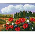 Kanwa z nadrukiem - Letnia łąka