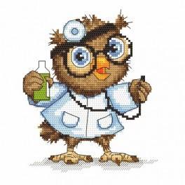 Kanwa z nadrukiem - Mała sówka - lekarka