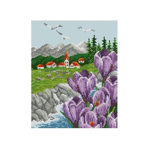 Kanwa z nadrukiem - Wiosna