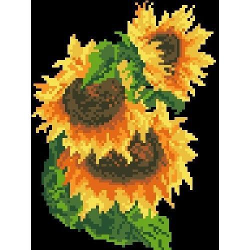 Kanwa z nadrukiem - Słoneczniki