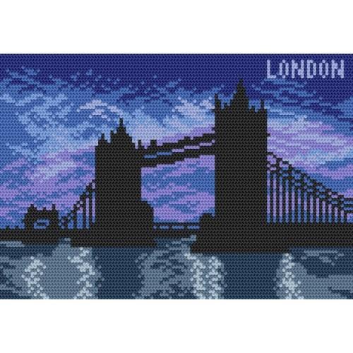 Kanwa z nadrukiem - Londyn