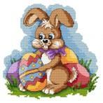 Kanwa z nadrukiem - Wielkanocny zając