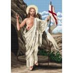 Kanwa z nadrukiem - Chrystus Zmartwychwstały