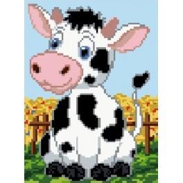 Kanwa z nadrukiem - Krowa
