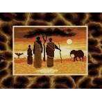 Kanwa z nadrukiem - Afrykańskie klimaty