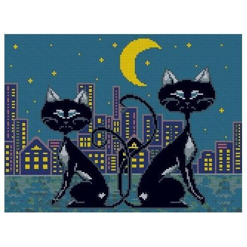 Kanwa z nadrukiem - Rodzina kotów