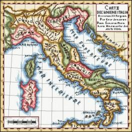 Kanwa z nadrukiem - Stara mapa