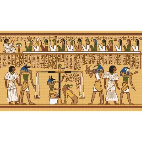 Kanwa z nadrukiem - Fragment papirusu
