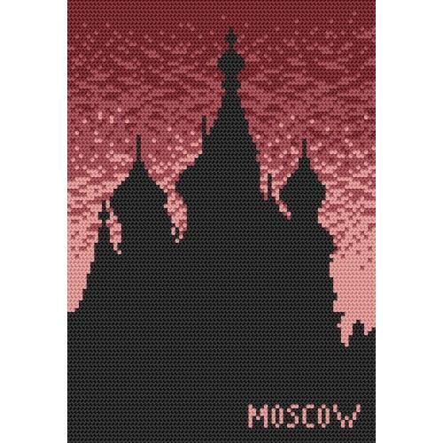Kanwa z nadrukiem - Moskwa