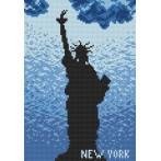 Kanwa z nadrukiem - Nowy York
