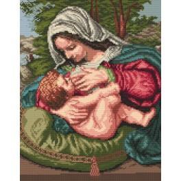Kanwa z nadrukiem - Matka Boska Karmiąca
