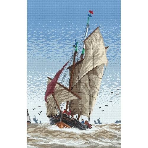 Kanwa z nadrukiem - Na morzu