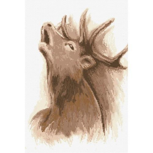 Kanwa z nadrukiem - Ryk jelenia
