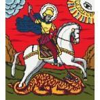 Kanwa z nadrukiem - święty Jerzy