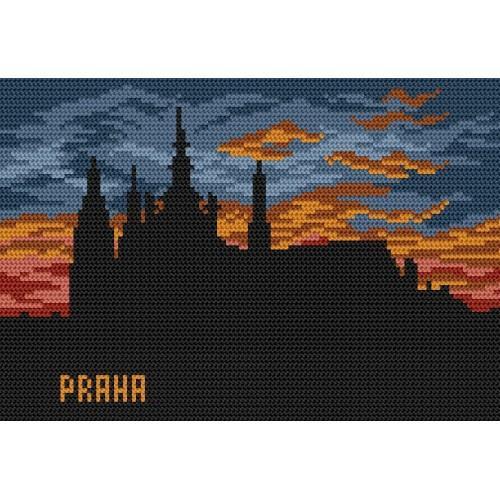 Kanwa z nadrukiem - Praga