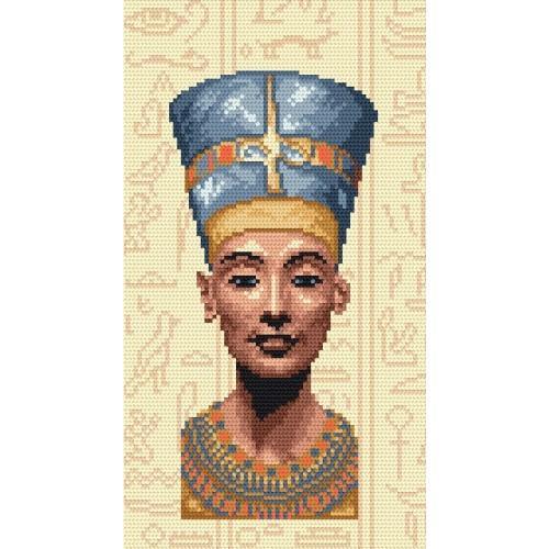 Kanwa z nadrukiem - Nefertiti - Królowa Egiptu