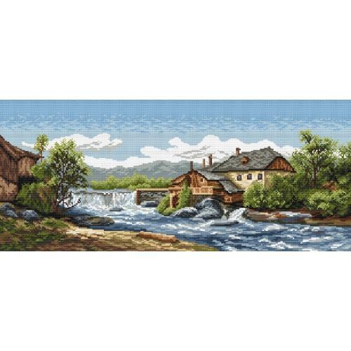 Kanwa z nadrukiem - Nad wodą