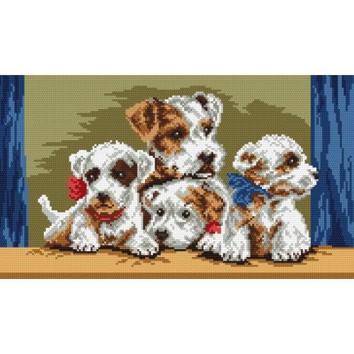 Kanwa z nadrukiem - Psia rodzina