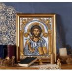 Kanwa z nadrukiem - Ikona- Chrystus Pantokrator