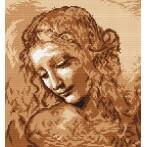 Kanwa z nadrukiem - L. da Vinci - Głowa kobiety