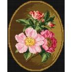 Kanwa z nadrukiem - Dzika róża