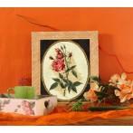 Kanwa z nadrukiem - Różana gałązka