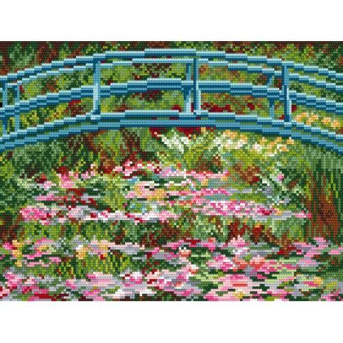 Kanwa z nadrukiem - C. Monet - Nenufary