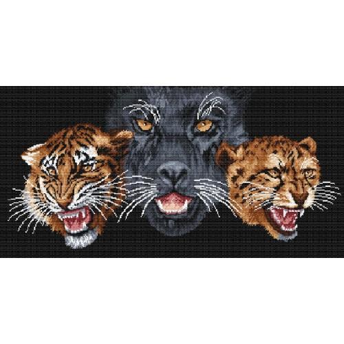 Kanwa z nadrukiem - Dzikie koty