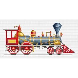 Kanwa z nadrukiem - Czerwona lokomotywa