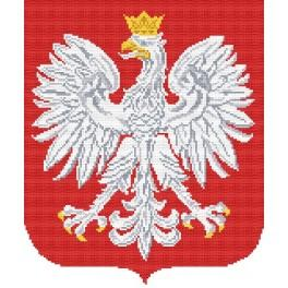 Kanwa z nadrukiem - Godło Polski